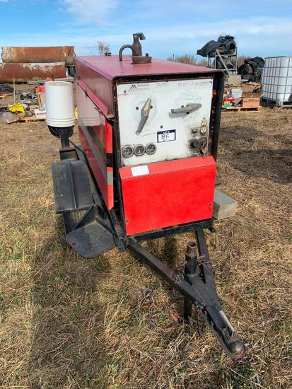 Ackland Big AG300 Trailer Mounted Welder. Single Axle Trailer. SN HH031316. **NOT RUNNING**