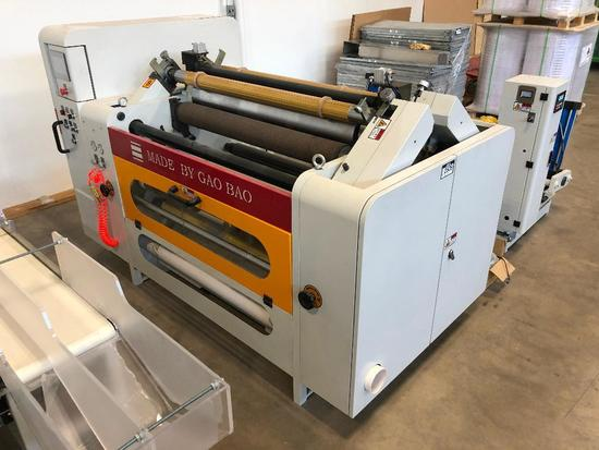 """GaoBao Machinery """"BDFQ-1100D Series"""" Slitting and Rewinding Intelligent Machine for Surface Rolling"""