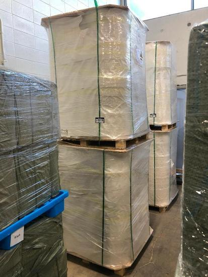Lot of (2) Pallets of 60g/m2 Paper Spools