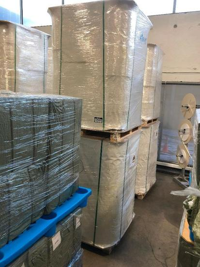 Lot of (2) Pallets of 120g/m2 Paper Spools