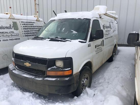 2014 Chevrolet Express Van, VIN # 1GCWGFCAXE1105224