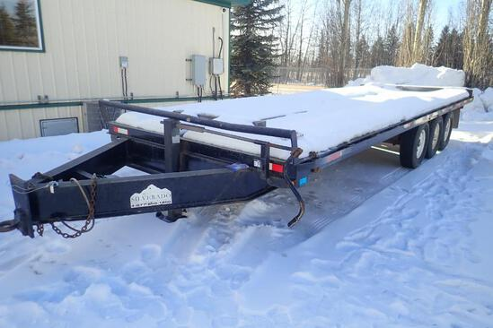 2004 Double A Tridem Axle 24' Flatdeck Trailer.