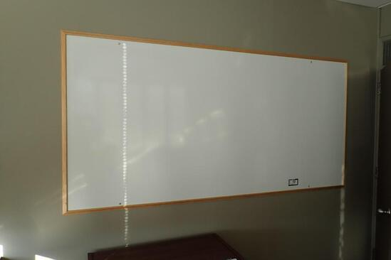 Lot of 8' Dry Erase Board and 8' Peg Board.