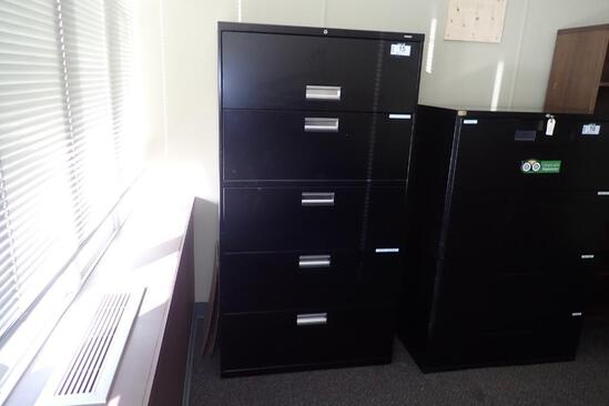 Lateral 5-drawer File Cabinet.