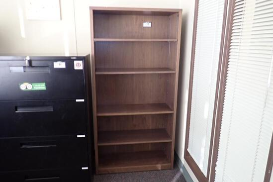 Lot of (2) 5-shelf Bookcases.