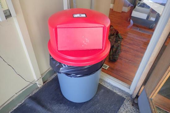 Lot of 2 Rubbermaid Garbage Cans.