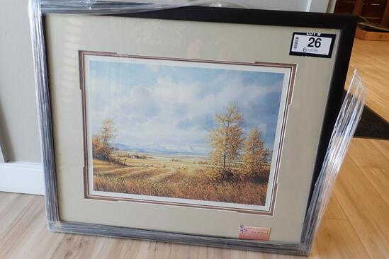 Framed Limited Edition Marla Wilson 27 of 390 Autumn Afternoon Print.
