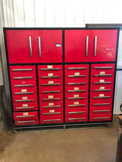 Skidded Shop Cabinet w/ (2) Cabinets and (32) Drawers