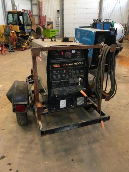 Lincoln Electric Vantage 400 S/A Welding Trailer, 9,529hrs Showing,