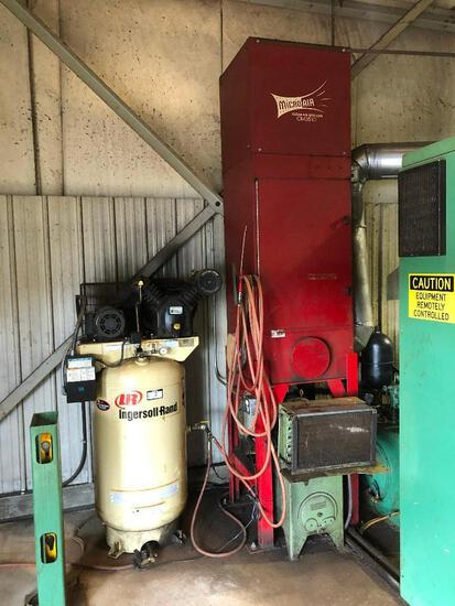 Ingersoll Rand Compressor 2475, Serial#: 3012099 w/ MicroAir Clean Air System OM3510