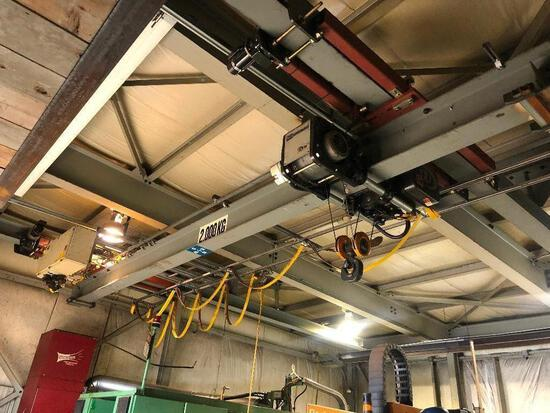 Kone Cranes CXT 200 2,000Kg Overhead Crane, 20' Span, 25' Run w/ Beams, etc.