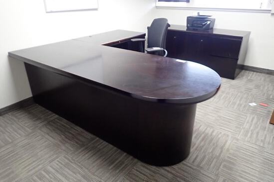 L-Shaped Desk w/ Credenza.