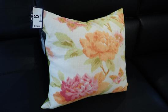 """Down Filled 16"""" Square Toss Pillow."""
