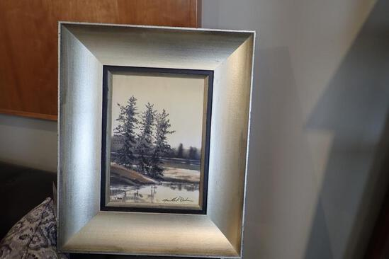 """Roma Moulding Wood Framed 22 1/2""""x18 1/2"""" Northern Shoreline II Picture."""