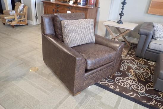 """Stickley Occasional Chair w/ 24""""x16"""" Back Pillow."""