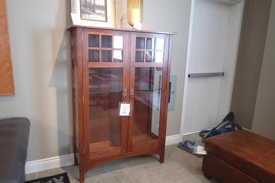 "Stickley 40 1/2""Wx62""Hx16""D Collectors Cabinet."