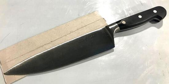 """8"""" NELLA CHEF'S KNIFE, BLACK POLY HANDLE, NELLA 11973 - NEW"""
