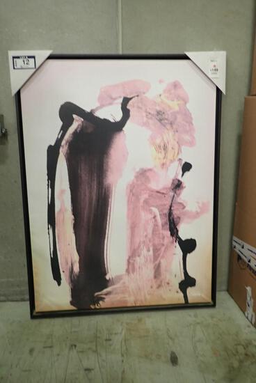 "Framed 36 1/4""x48 1/4"" Canvas Print- Minor Damage."