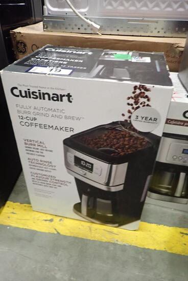Cuisinart Fully Automatic Burr Grind and Brew 12-cup Coffee Maker.