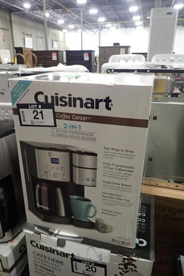 Cuisinart 2-in-1 12-cup Coffee Maker and Single Server Brewer.