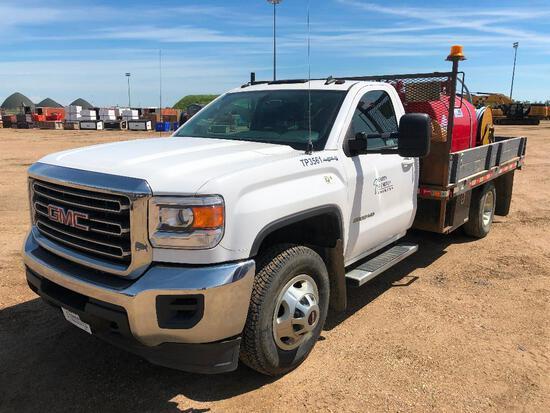 2015 Chevrolet Silverado Crew Cab 4X4 DRW Deck Truck w/ Fuel System VIN #: 1GD322CG1FF142614