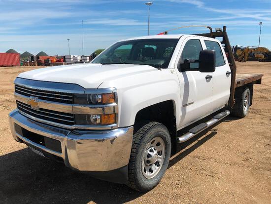 2015 Chevrolet Silverado Crew Cab 4X4 Deck Truck VIN # 1GB4KYCG0FF634857