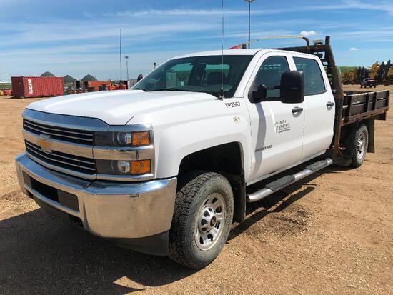 2015 Chevrolet Silverado Crew Cab 4X4 Deck Truck, VIN # 1GB4KYCG3FF634433