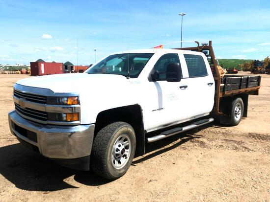 2015 Chevrolet Silverado Crew Cab 4X4 Deck Truck, VIN # 1GB4KYCG3FF636991