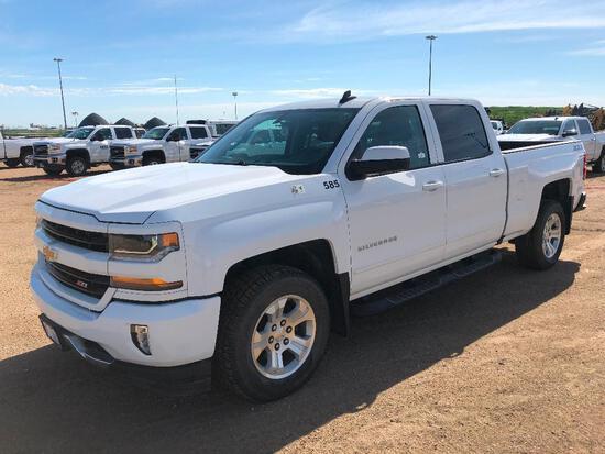 2018 Chevrolet Silverado Crew Cab 4X4 Pickup Truck, Leather, Heated Seats VIN # 1GCUKRECXJF172764