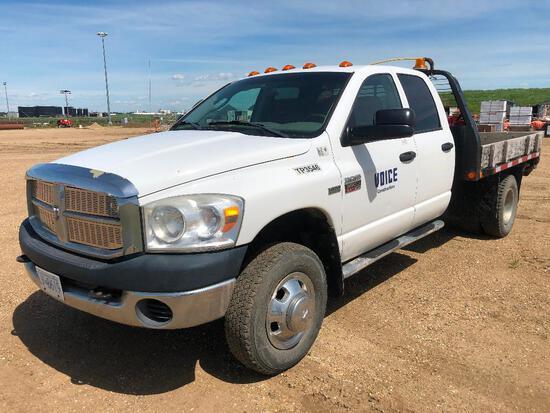 2007 Dodge Ram Pickup Extended Cab 4X4 DRW Deck Truck, VIN # 3D6WH48D27G804656