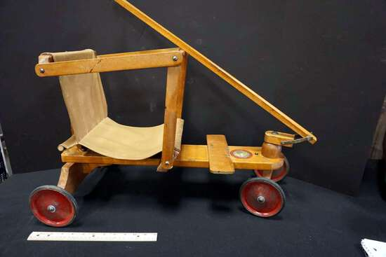 1920's Tiny Toter pull stroller