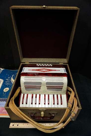1950's Marotta Accordion w/ music books