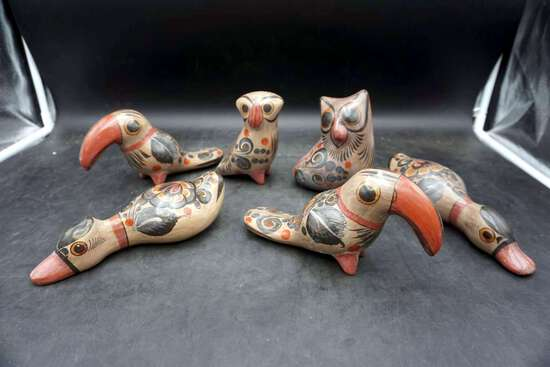 Antique Mexican Tourist Pottery, lot of 6