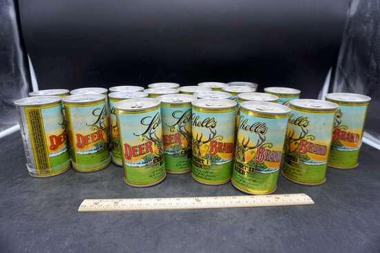 Schells Deer Brand beer cans, lot of 21