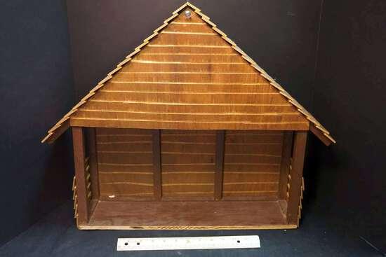 Homemade dollhouse/manger scene