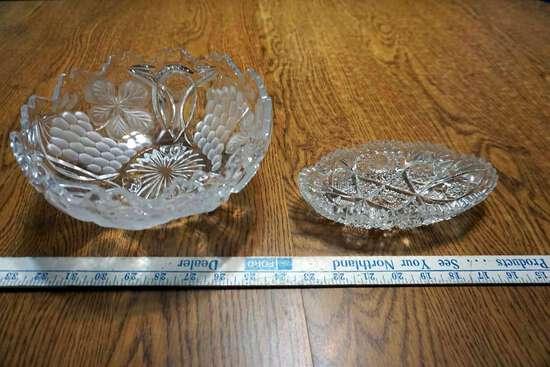 Cut crystal bowls.