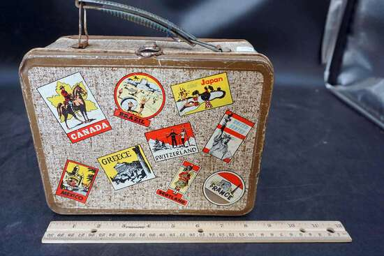 Vintage Tin  Lunch box with thermos