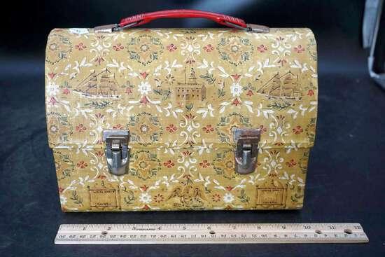 Vintage lunch box, Vintage Doctor Scholl's, vintage massager.