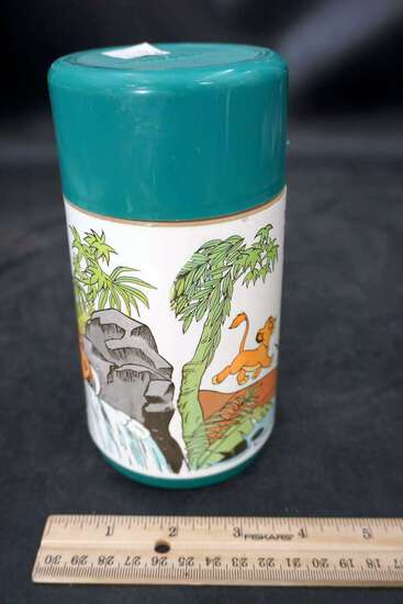 Nostalgic lion king Thermos and cup.