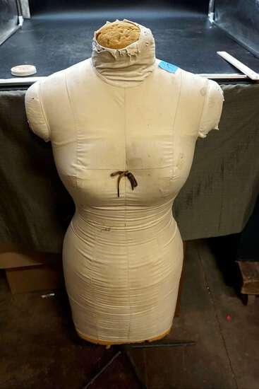 Mannequin dress form.