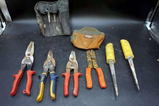 Tools,  vintage old Milwaukee cardboard crate.