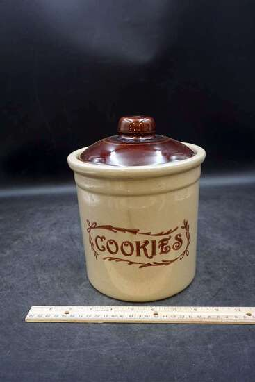 Stoneware Cookies Jar