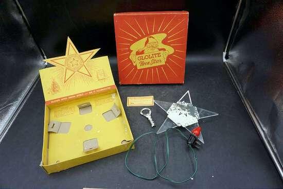 Glolite Neon Star Tree Topper, Original Box
