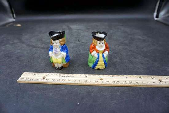 Figural Miniature Creamers. Occupied Japan