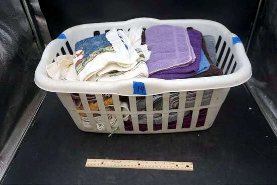 Basket of towels.