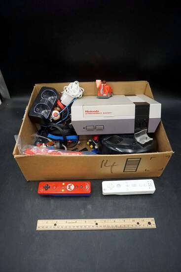 Nintendo Wii remote's. Original Nintendo Entertainment System. Chargers, covers, accessories.