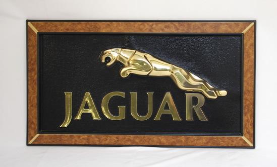 Vintage Original Jaguar Automobile Dealership Sign