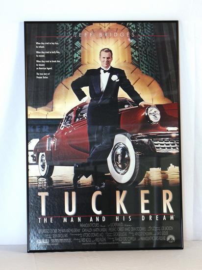 Vintage Tucker Automobile Movie Poster Jeff Bridges