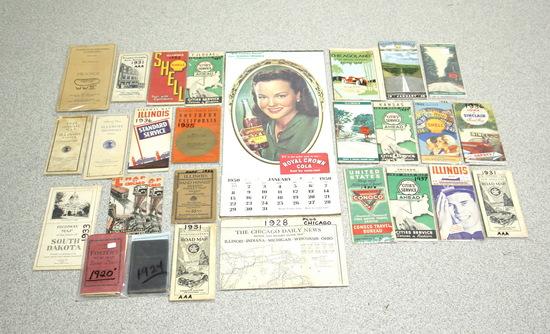 Vintage RC Cola Calendar w/Road Maps & Brochures