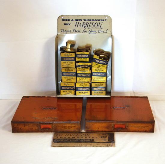 Vintage United Motors Cabinets GM & Harrison Thermostats Display Sign